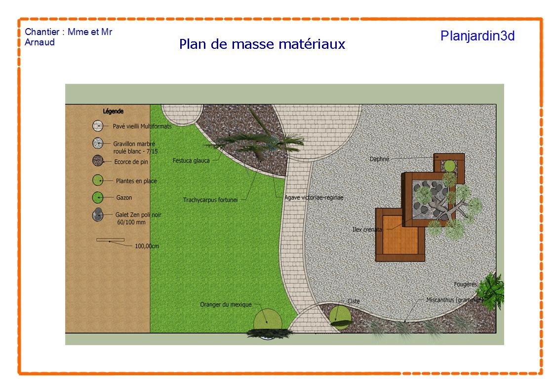 Plan se masse mat raux plan jardin 3d for Jardin 3d en ligne
