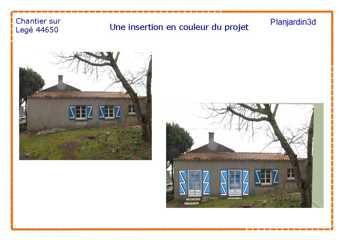 """Prestation """" permis de construire"""" - Plan Jardin 3d"""